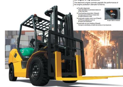 8,000lbs Semi-Pneumatic LP Forklift